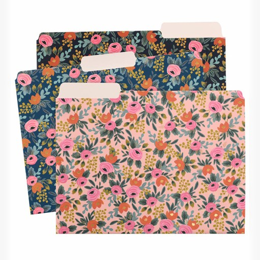 Rifle Paper Co. Rosa File Folders