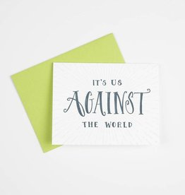 Gus and Ruby Us Against the World Card