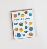 Hammerpress HANSTY0011 - Thanks-a-Latte Note Set, Box of 6