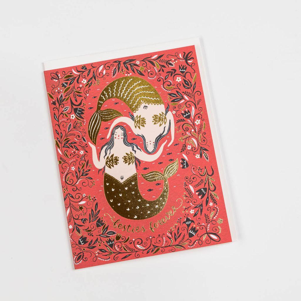 Red Cap Cards RCCGCMI0004 - Bestie Mermaid