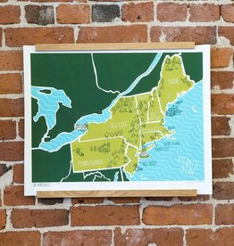 Brainstorm Print and Design BSPRLA - american atlas northeast 16 Inch x 20 Inch