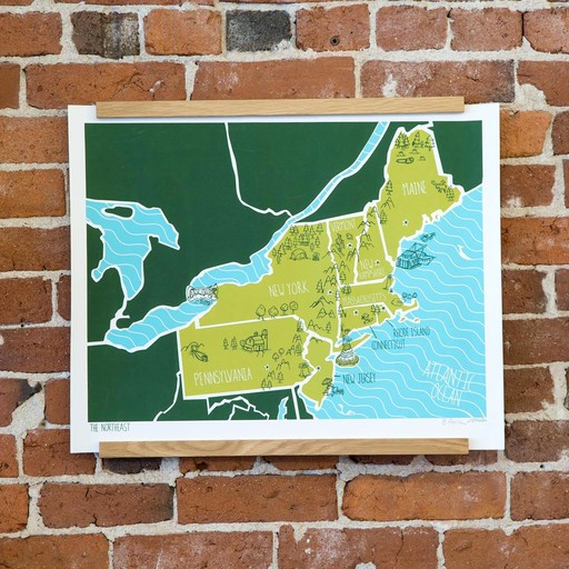 Brainstorm Print and Design BS PR - american atlas northeast 16 Inch x 20 Inch