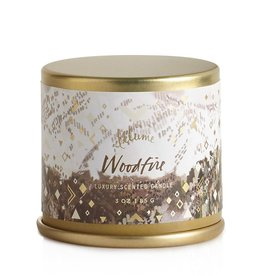 illume candles Woodfire Mini Tin Candle