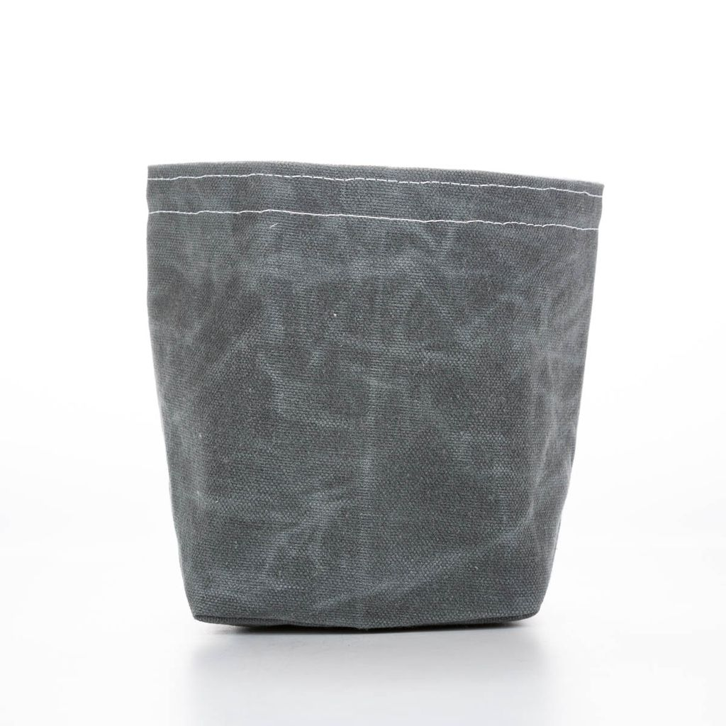 Casey D Sibley Art + Design Charcoal Waxed Canvas Bucket