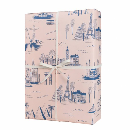 Rifle Paper Co. City Toile Wrap Sheet