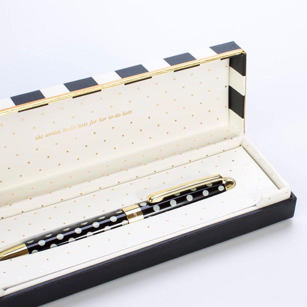Kate Spade KS OS - Black Dot Ballpoint pen