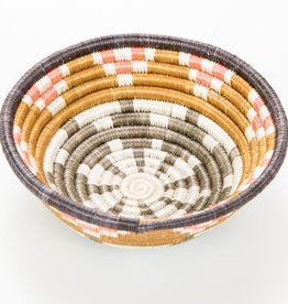 Across Africa Small Dijon + Coral Hope Basket