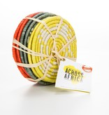 Across Africa AA CO - Orange Yellow + Green Coaster Set  -  6 coaster set