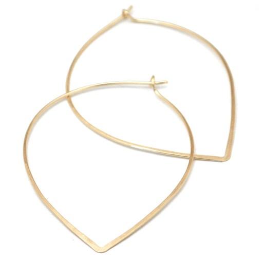 Favor Jewelry FJ JE - Petal Hoop Earrings, Gold