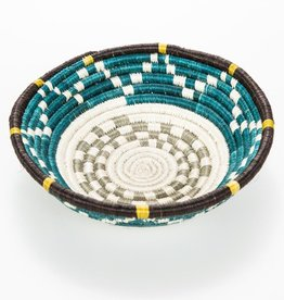 Across Africa AA HG - Small Teal + Taupe Hope Basket