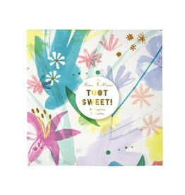 Meri Meri MEM PS - Painted Flowers Napkins 16 pk