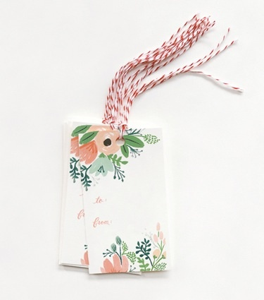 Rifle Paper Co. RP GT - wildflower gift tags, set 10