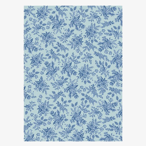 Rifle Paper Co. Blue Toile Wrap Sheet