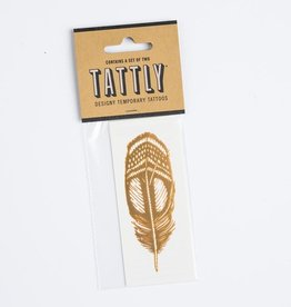 tattly Gold Quail Feather Temporary Tattoos