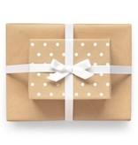 Sugar Paper Reversible Kraft Dot Wrapping Paper