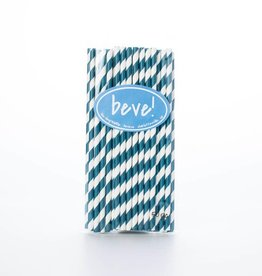 beve! Navy Stripe Paper Straws