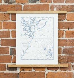 quail lane press QLP PR - 12x16 Inch portsmouth map
