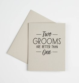 The Social Type Two Grooms Card