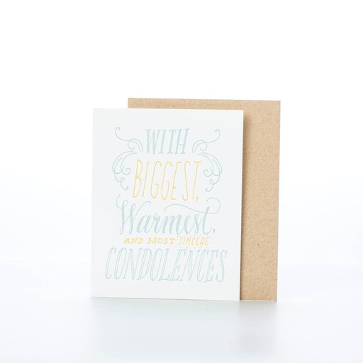 Ladyfingers Letterpress Biggest Condolences Card