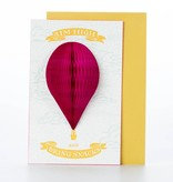 Ladyfingers Letterpress Aim high pop-out balloon card