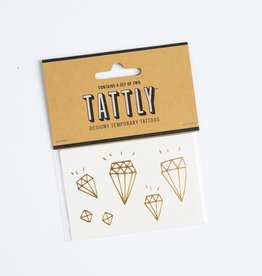 tattly TA LG - Gold Diamonds Tat