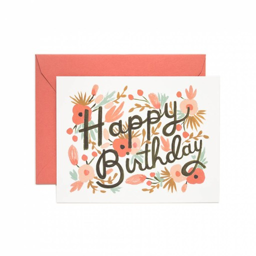 Rifle Paper Co. RPGCBI0002 - floral burst birthday