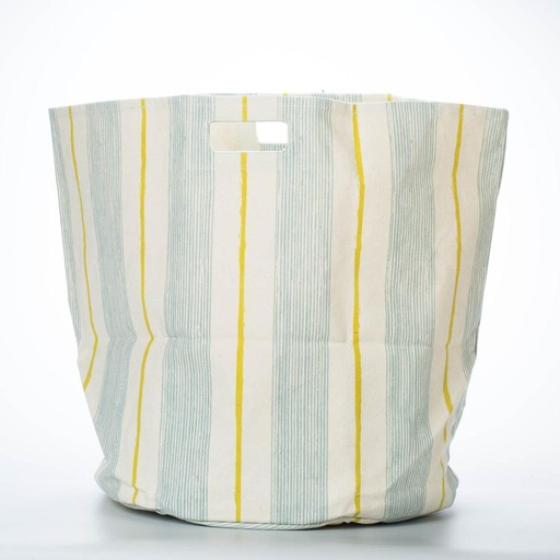 Pehr Blue + Yellow Stripe Hamper