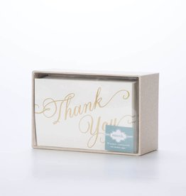 Smock SMNSTY0035 - Script Thank You (gold foil), 30 pack