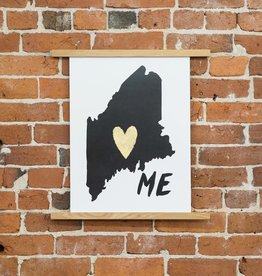Idlewild Co. IDPR0003 - ME Home is Where the Heart is print, 13 Inch x 18 Inch
