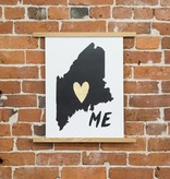 Idlewild Co. Home is Where the Heart Is Maine Print