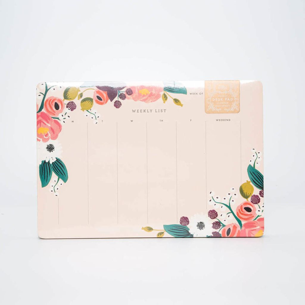 Rifle Paper Co. RP NP - Pink Floral Weekly Desk Pad