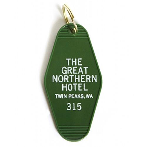 Greenwich Letterpress Great Northern Hotel Twin Peaks Vintage Keychain
