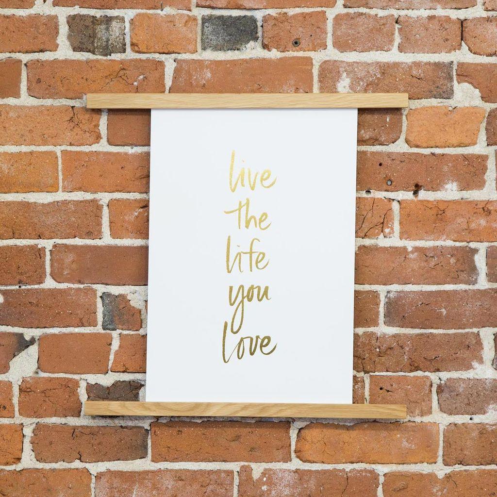 Sugar Paper Live the Life Print