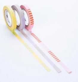 Sweet Bella LLC SWB OS - 1 meter roll set 3 washi tape, slim deco A