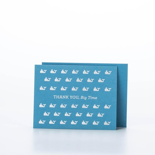 The Social Type Thank You Whales Card