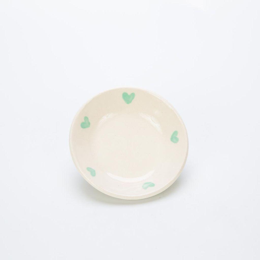 RossLab Mint Heart Ring Dish