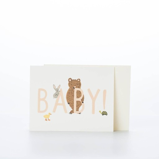 Rifle Paper Co. RP GC - BABY! card peach