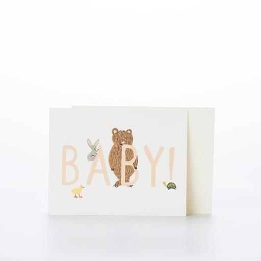 Rifle Paper Co. RPGCBA0002 - BABY! card peach