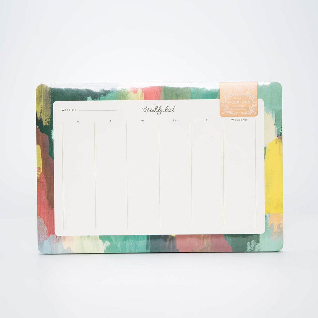 Rifle Paper Co. Paintstrokes Weekly Desk Pad