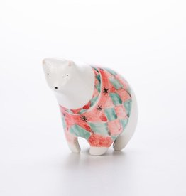 Barruntando BAR LG - Ceramic Diamond White Bear Figurine
