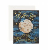 Rifle Paper Co. To The Moon + Back Card