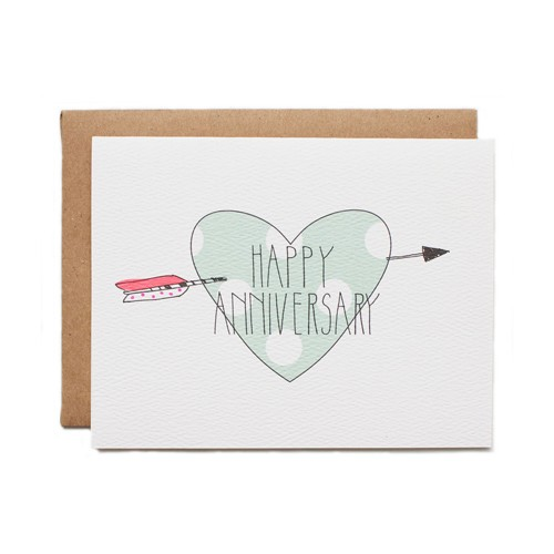 Hartland Brooklyn Anniversay Heart Card