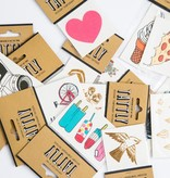 tattly Pizza Slice Temporary Tattoos