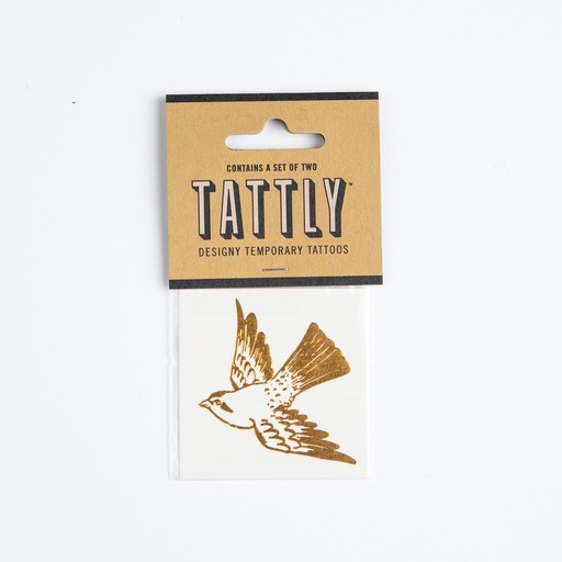 tattly TA LG - Cartolina Bird Gold Tat