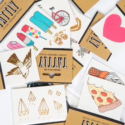 tattly Gold Bird Temporary Tattoos