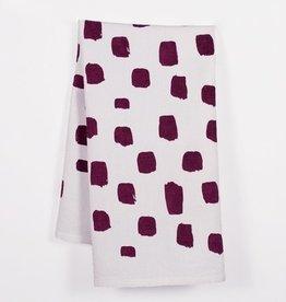 Such Sweet Tierney SST LI - Burgundy Dotted Tea Towel