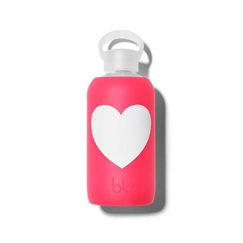 bkr bkr Bisous Heart 500ml Glass Waterbottle