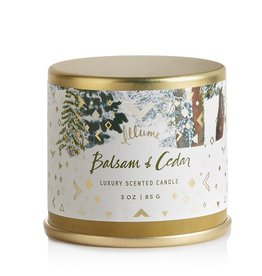 illume candles Balsam and Cedar Mini Tin Candle