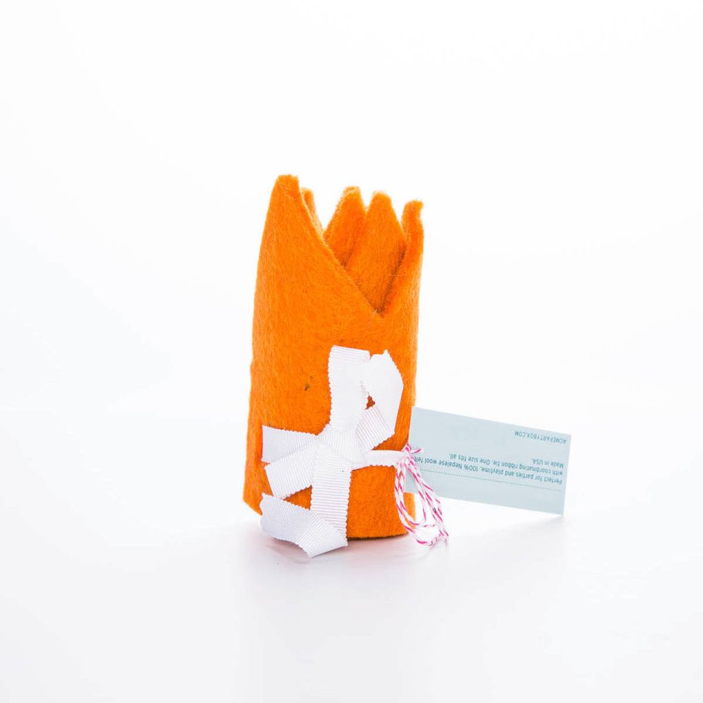 acme party box co. Orange Felt Crown