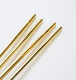 w and p design Set of 4 Gold Metal Straws
